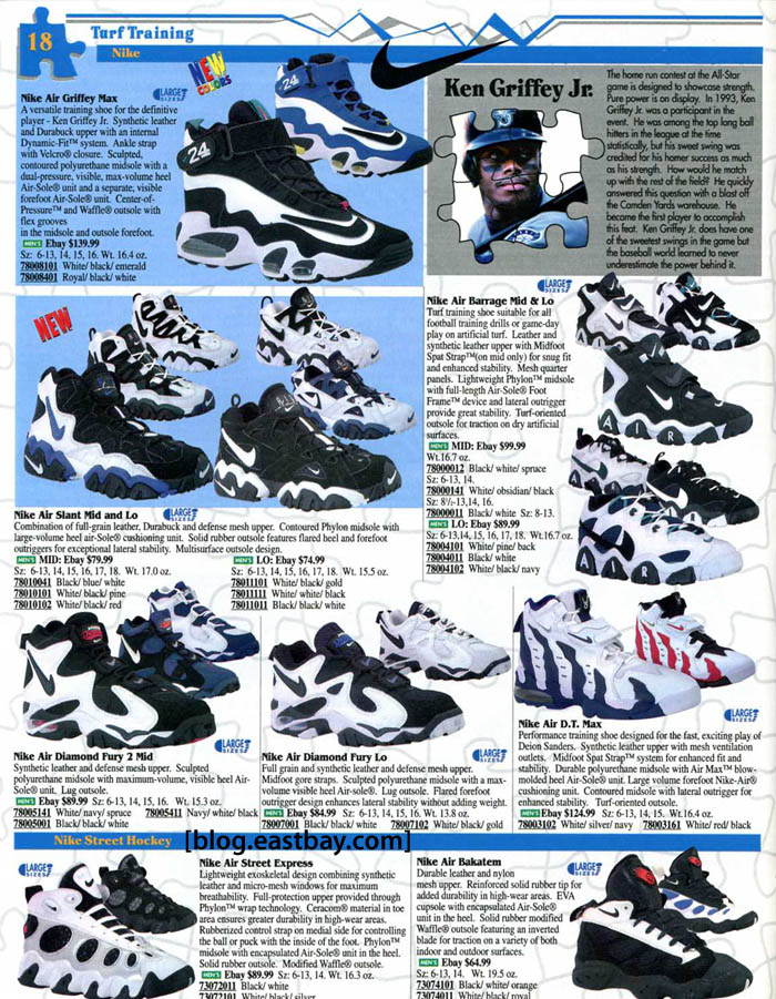 4f9301e76774 Eastbay Memory Lane  1996 Baseball Nike Diamond Fury