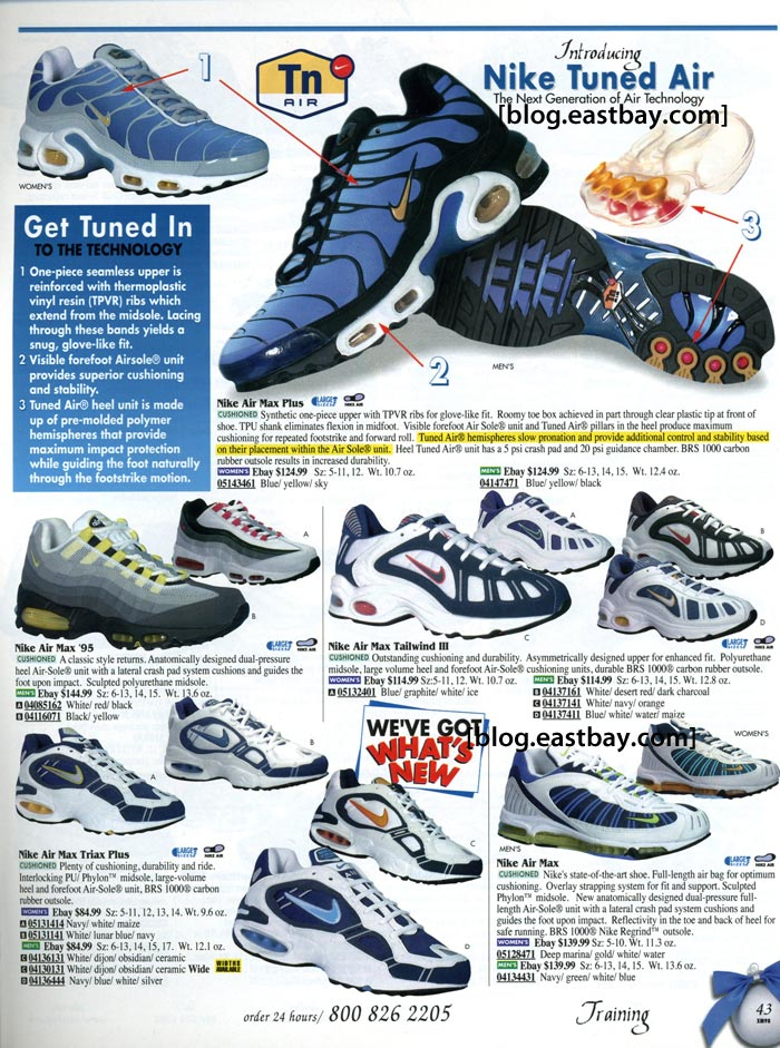 Eastbay Memory Lane: Nike Running 1998 Air Max, Tuned Air, Air Max 95