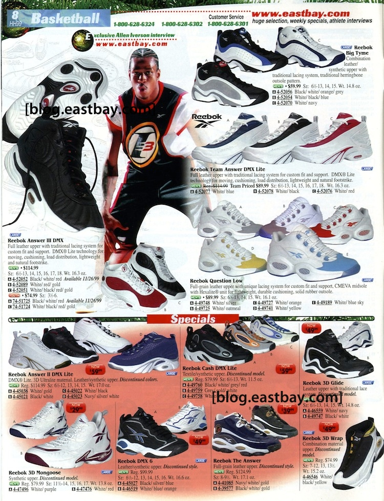 be0e5762f69 Eastbay Memory Lane  Reebok Allen Iverson Collection