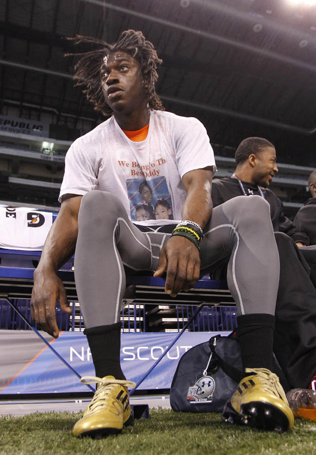 Robert Griffin III Runs Impressive 40 at NFL Combine in adidas adiZero 5-Star Cleats (3)