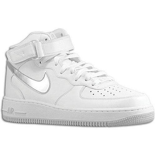 Available: Nike Air Force 1 Mid – White/Metallic Silver