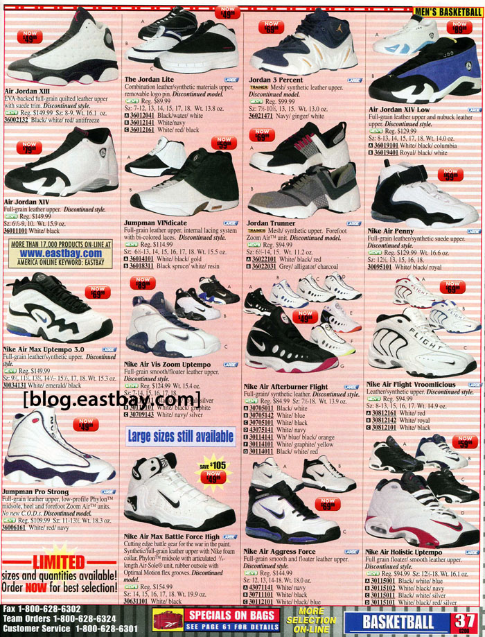 Eastbay Memory Lane Nike Basketball Sale from 2000