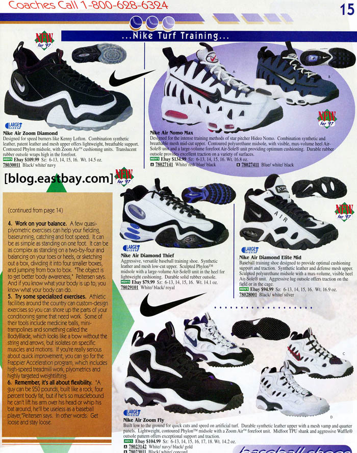 Eastbay Memory Lane    1997 Nike Baseball Turf Trainers  88acbf257285