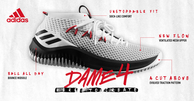 Breaking Down The Brand New Adidas Dame 4 Shoes   Eastbay Blog 6e572a40b90c