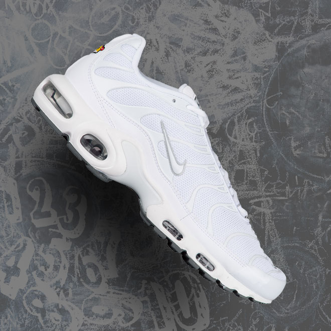 Men's Nike Air Max Plus -- White and Cool Grey
