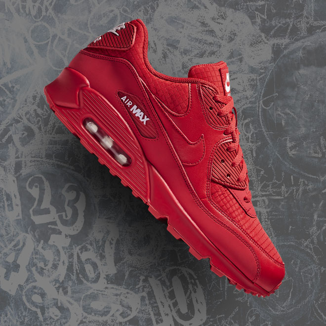 Men's Nike Air Max 90 -- University Red and White