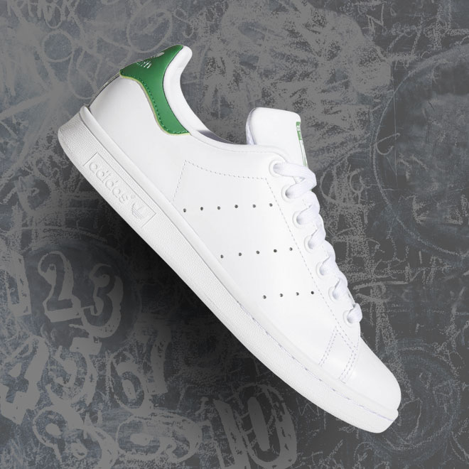 Women's adidas Originals Stan Smith -- White and Green