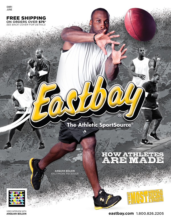 Anquan Boldin Eastbay June catalog cover