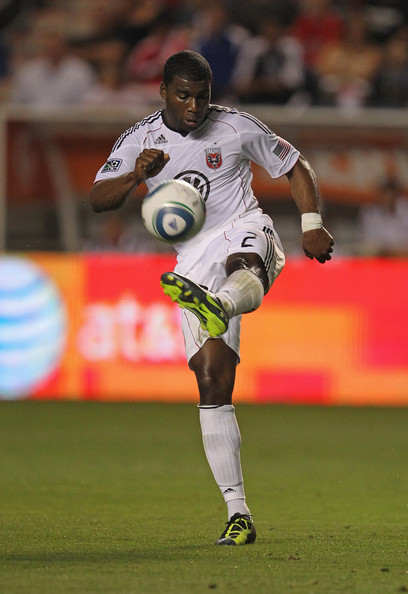 Brandon McDonald of DC United makes a pass in the latest Nike soccer cleats.