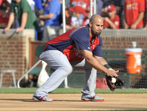 Albert Pujols, always in a player exclusive colorway from Nike.
