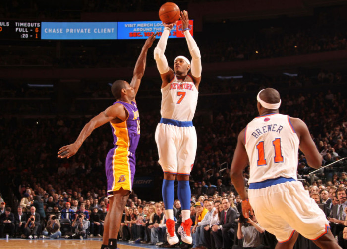Sneaker Watch // Melo's Early 30 Enough For Knicks to Hold Off Lakers