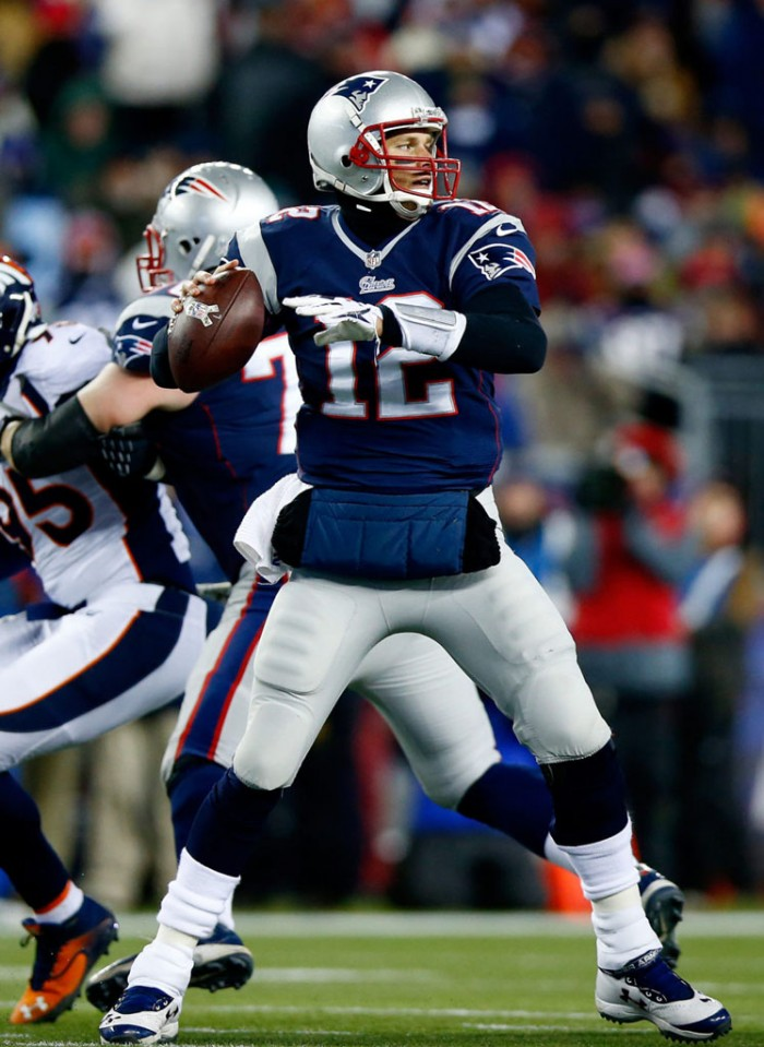 Tom Brady wearing Under Armour Football Cleats