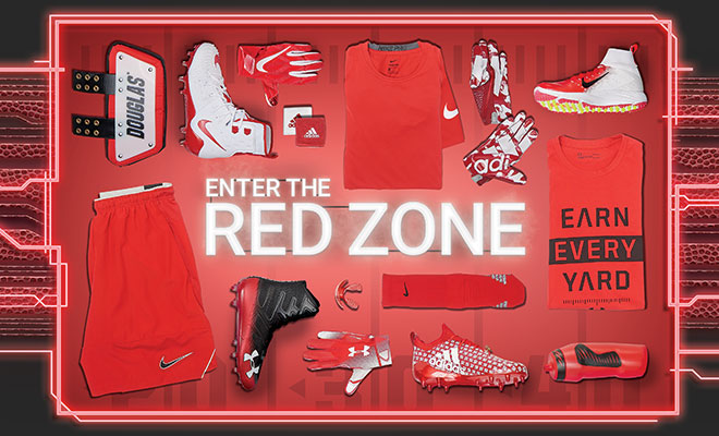 Football By Color Red
