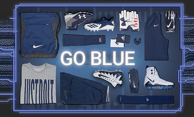 Football By Color Navy