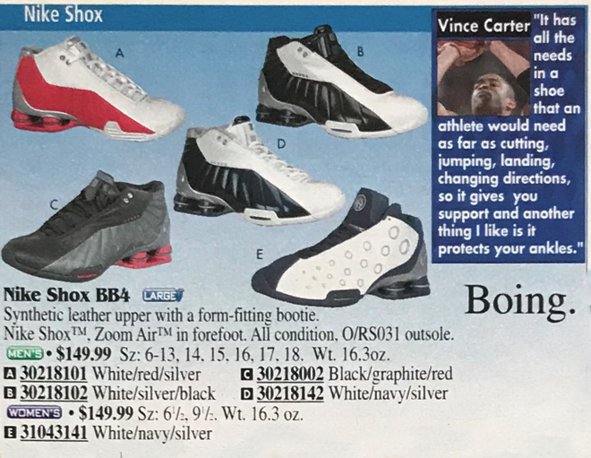 Nike Shox Vince Carter Quote