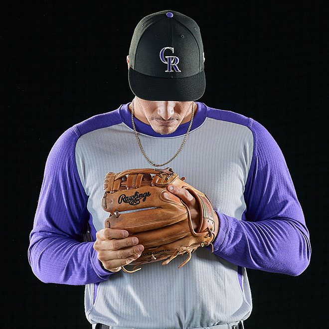 Nolan Arenado focus on glove
