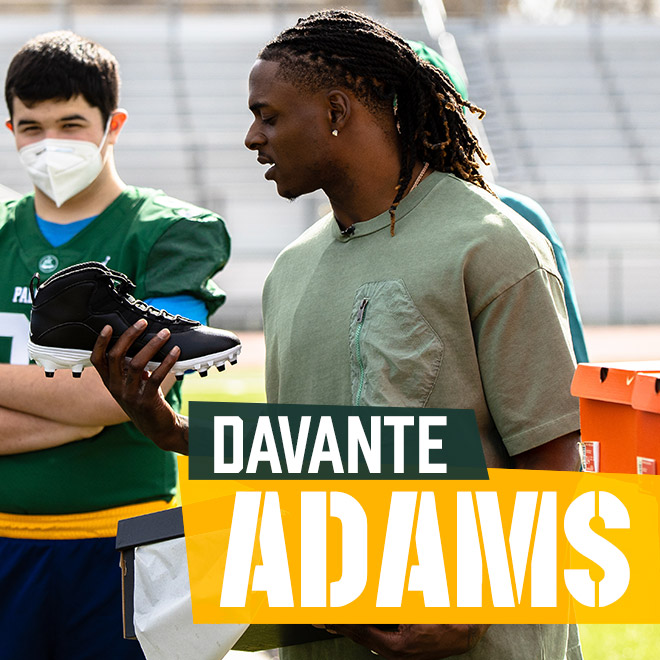 Davante Adams Teams Up With Eastbay To Give Back To Palo Alto High School Football Team
