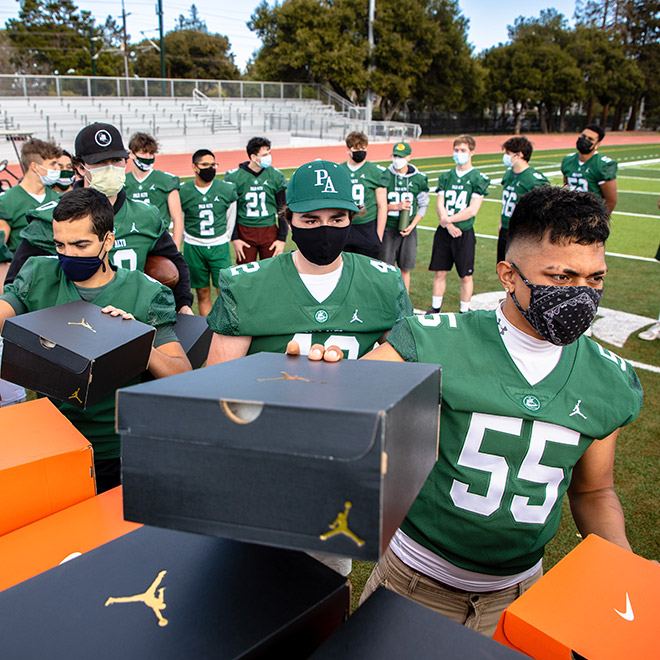 Davante Adams Palo Alto High School Shoe Giveaway