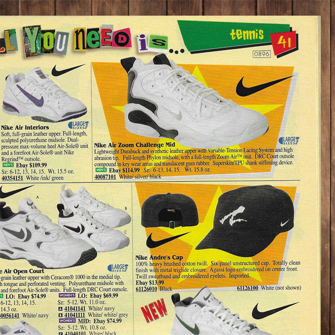 Drew Hammell Andre Agassi Logo Air Zoom Challenge