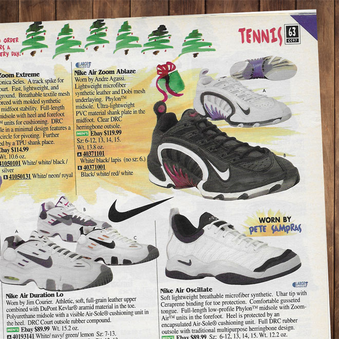Drew Hammell Andre Agassi Logo Nike Air Assailant