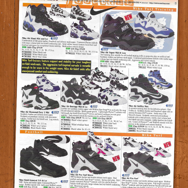 Look Back Eastbay Catalog June 1996 Training Shoes