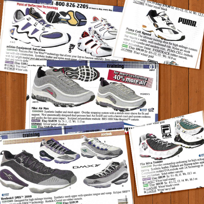 Look Back Eastbay Catalog Cushioned Running Sneakers Fall 1997