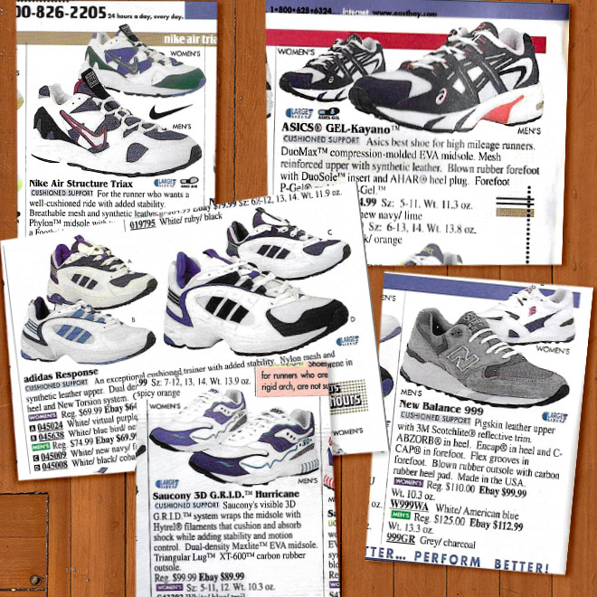 Look Back Eastbay Catalog Cushioned Support Running Sneakers Fall 1997