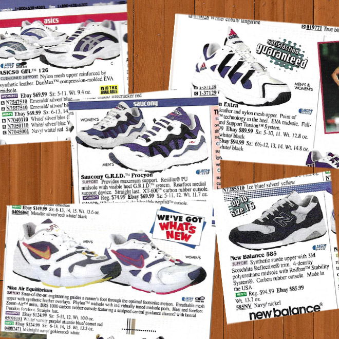 Look Back Eastbay Catalog Supportive Running Sneakers Fall 1997