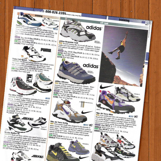 Look Back Eastbay Catalog Trail Running Sneakers Fall 1997